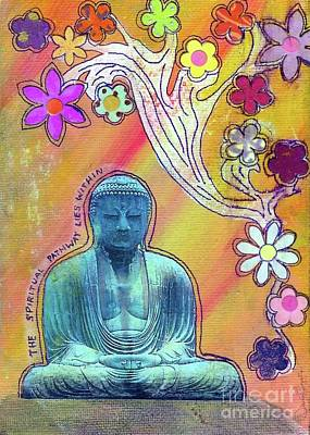 Poster featuring the mixed media Inner Bliss by Desiree Paquette