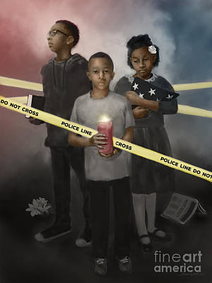 Poster featuring the digital art Inner City Blues by Dwayne Glapion