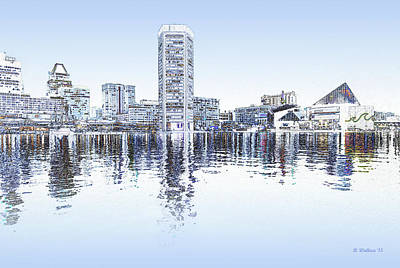 Inner Harbor - Blue Poster by Brian Wallace