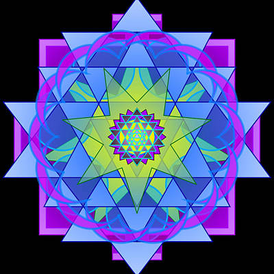 Inner Light Mandala Poster by Mimulux patricia no No