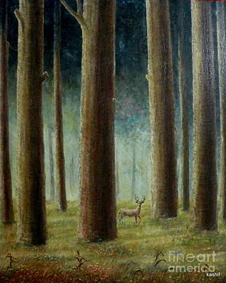 Innocent In Woods Poster by Syed kashif Ahmad