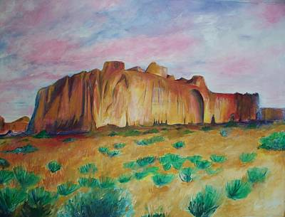 Poster featuring the painting Inscription Rock  by Eric  Schiabor