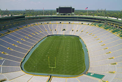 Poster featuring the photograph Inside Lambeau Field by Joel Witmeyer