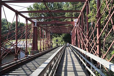 Inside The Bollman Truss Bridge At Savage Maryland Poster