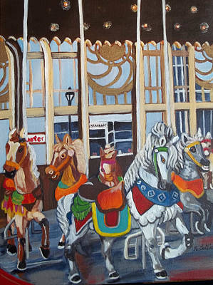 Inside The Carousel House Poster by Norma Tolliver
