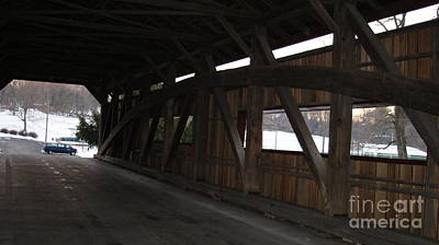 Inside The Covered Bridge...   # Poster by Rob Luzier