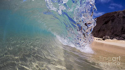 Inside The Curl Big Beach Maui Wave Poster by Dustin K Ryan