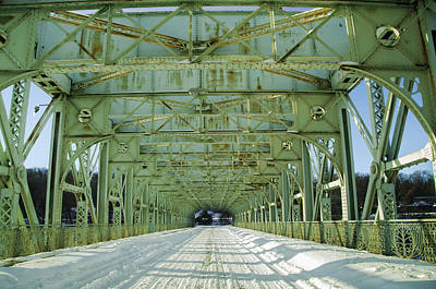 Inside The Falls Bridge - Winter Poster by Bill Cannon