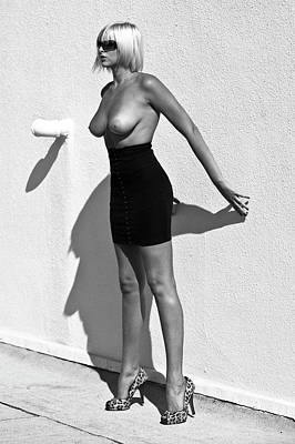 Helmut Newton Poster featuring the photograph Inspiration Nude Number 1 by Lloyd Rosen