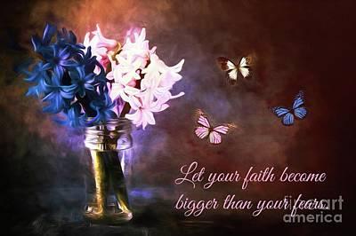 Inspirational Flower Art Poster by Tina LeCour