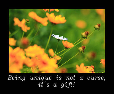 Inspirational-being Unique Is A Gift Poster
