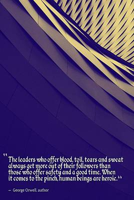 Inspirational Quotes - Motivational , Leadership - 51 George Orwell, Author Poster