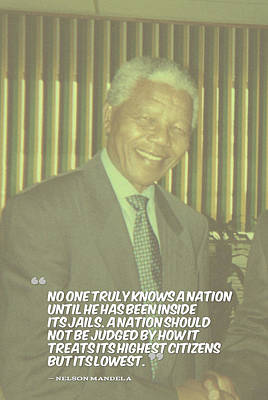 Inspirational Quotes - Motivational - 126. Nelson Mandela Poster