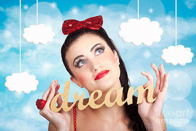 Inspire To Create. Pinup Your Dreams To The Sky Poster by Jorgo Photography - Wall Art Gallery