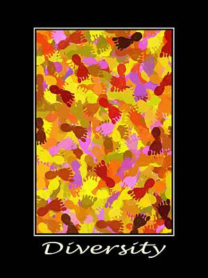 Inspiring Diversity Motivational Poster Art Poster