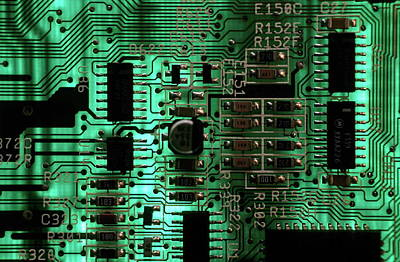 Integrated Circuit Board From A Computer Poster