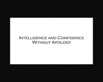 Intelligence And Confidence Poster