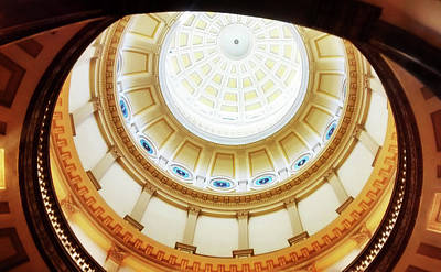 Poster featuring the photograph Interior Denver Capitol by Marilyn Hunt