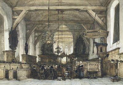 Interior Of The Church In Maasland Poster