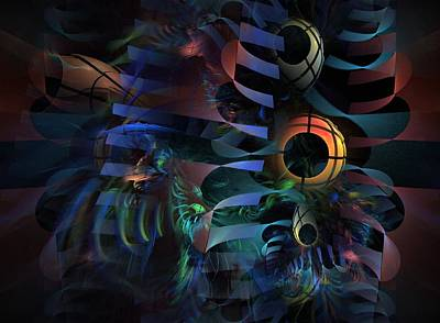 Poster featuring the digital art Interlude 1536 - Fractal Art by NirvanaBlues