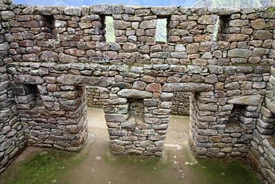 Internal Masonry At Machu Picchu Poster