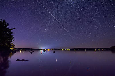Poster featuring the photograph International Space Station Over Branch Lake by Kirkodd Photography Of New England