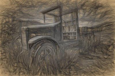 International Truck Skeleton Poster