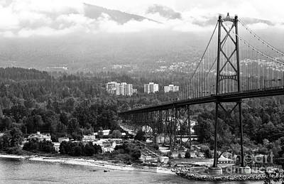Into North Vancouver Mono Poster