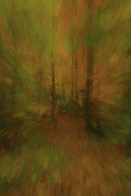 Into The Forest Autumn Abstract Poster