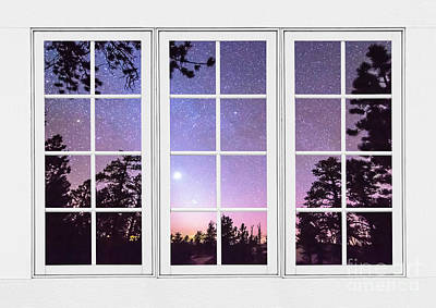 Into The Starry Night Window View  Poster by James BO  Insogna