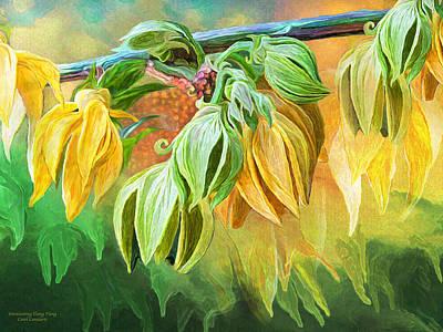 Poster featuring the mixed media Intoxicating Ylang Ylang by Carol Cavalaris