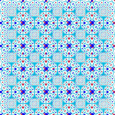 Intricate Geometric Pattern Poster by Gaspar Avila