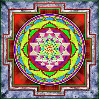 Intuition Sri Yantra 1 Poster by Dirk Czarnota