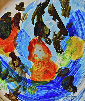 Poster featuring the painting Intuitive Painting  215 by Joan Reese