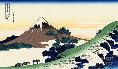Inume Pass In The Kai Province Poster by Hokusai