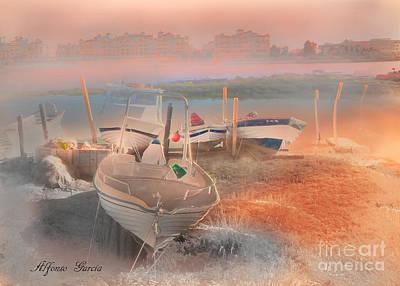 Invierno En Punta Del Moral Poster by Alfonso Garcia