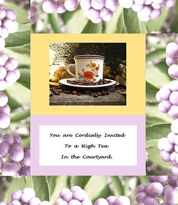 Invitation To Tea Poster