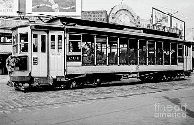 Poster featuring the photograph Inwood Crosstown Trolley  by Cole Thompson