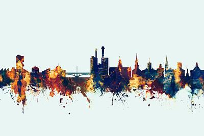 Iowa City Iowa Skyline Poster by Michael Tompsett