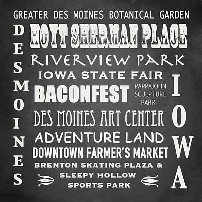 Iowa Famous Landmarks Poster