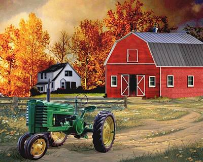 Iowa Farm 2 Poster by Ron Chambers