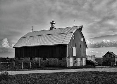 Iowa Farm At Sunset Poster