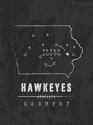 Iowa Hawkeyes / Ncaa College Football Art / Iowa City Poster