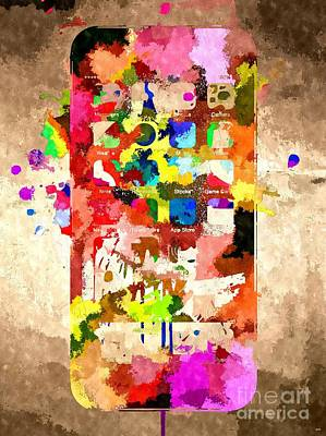 iPhone 6 Grunge Poster