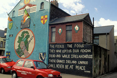 Ira Mural In Belfast Poster by Carl Purcell