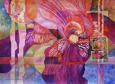 Iris Delight Poster by Lynda Hoffman-Snodgrass