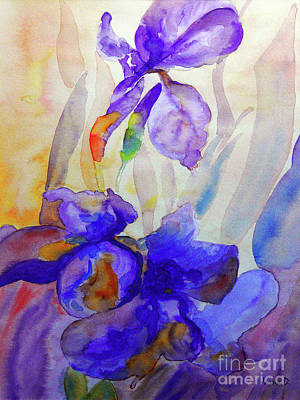 Poster featuring the painting Iris by Jasna Dragun