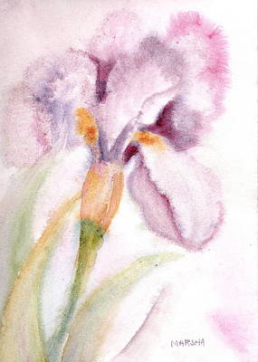 Iris Study I Poster
