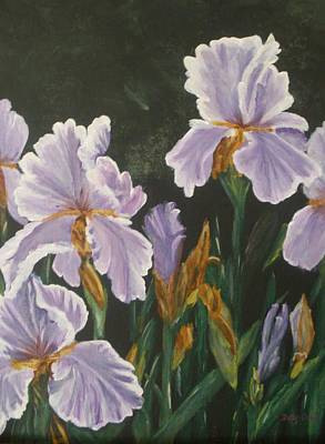 Poster featuring the painting Irises by Betty-Anne McDonald
