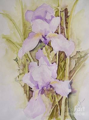 Poster featuring the painting Irises by Jackie Mueller-Jones